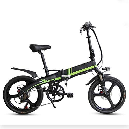GJJSZ Bicicleta eléctrica Plegable de 20