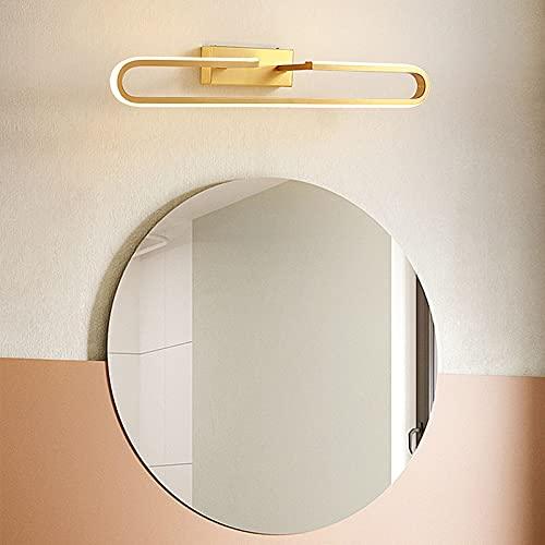 Lámpara LED de Pared, Lámpara LED de Espejo,Luz de Maquillaje, Apliques Espejo Baño LED, para Espejo Muebles de Maquillaje Aparato Montado en la Pared, para Baño, Armario, Pared (Color : Black)