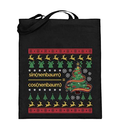 Ugly Christmas Sweater für Mathematiker - Jutebeutel (mit langen Henkeln)