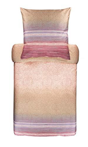 Bassetti 9311700 Nabucco 41 - Juego de Cama (Funda nórdica de 135 x 200 cm y Funda de Almohada de 80 x 80 cm), Color Beige