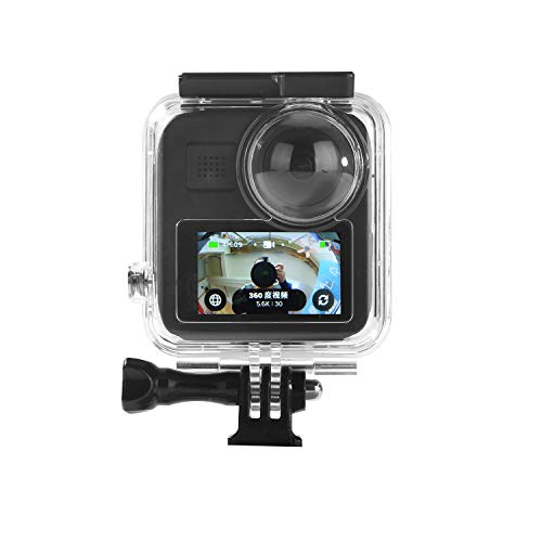 Waterproof Housing Case for Gopro Max Action Camera, Underwater Diving Protective Shell 30M with Bracket Accessories