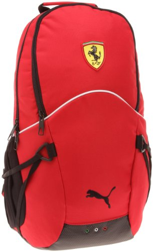PUMA Rucksack Ferrari Replica, rosso corsa-white-black, 29.5x48x20 cm, 070034 01