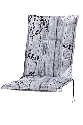 Kettler Polen KETTtex 0778 Auflage Mittellehner Florence grau Gemustert Schrift Sitzpolster 110x50x8 cm