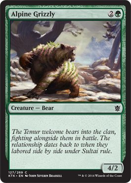 Magic The Gathering - Alpine Grizzly (127/269) - Khans of Tarkir