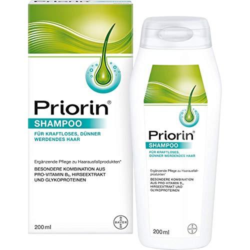 Priorin Shampoo zur Anwendung bei kraftlosem und dünner werdendem Haar für mehr Volumen und Glanz, 200 ml