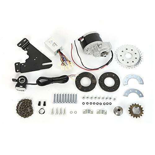 Ebike Umbausatz 250W 24V Elektro Ebike Conversion Daumen-Kit Elektrofahrrad Umbausatz Hinterrad Heckmotor mit Freilauf