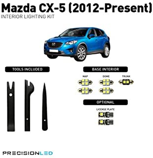 PrecisonLED 2012-2019 Mazda CX-5 LED Interior Lighting Kit with License Plate LEDs & Install Tools (8000K)
