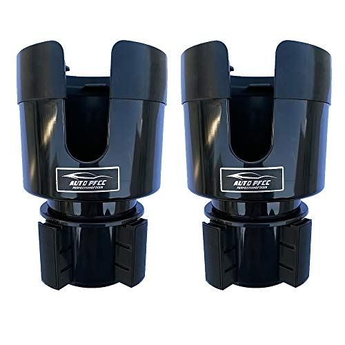 2 Pack Car Cup Holder Expander Adapter with Adjustable Base - Rubber Tabs Cup Holder Fits Most 32 oz - 40 oz Bottles and Cup