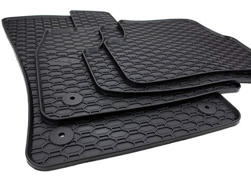 Gummimatten Premium Qualität Fußmatten Gummi schwarz 4-teilig