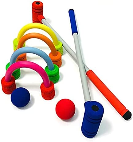 FCPLLTR 2 Player Finally resale start Garden Croquet Set Wooden and with Limited time cheap sale Mallets Stor
