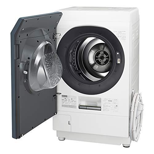 シャープ洗濯機ドラム式洗濯機ハイブリッド乾燥左開き(ヒンジ左)DDインバーター搭載シルバー系洗濯11kg/乾燥6kg幅640mm奥行728mmES-W112-SL