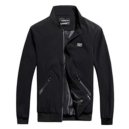 FRAUIT Herren Jacke Mantel Big Size Männer Freizeitjacke Zipper Jacke Mode Warm Winterjacke Wärmemantel Herrenmantel Langmantel Freizeit Outwear Trenchcoat M-8XL