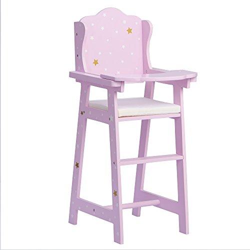 "Olivia's Little World - 16"" Baby Doll Furniture High Chair, Nursery Feeding High Chair , Purple, 10"" x 11.625"" x 22.75"""