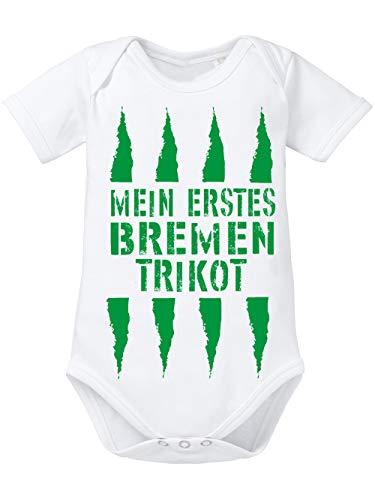 clothinx Baby Body Bio Mein erstes Bremen Trikot Weiß Gr. 62