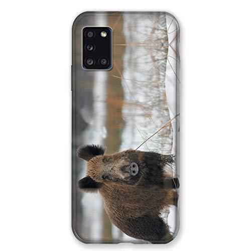 Carcasa para Samsung Galaxy A31, diseño de Perro con Correa de Nieve