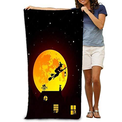 Toalla de Playa Grande, Toalla Suave de 31 'x51 con diseño único Ector Cuento de Hadas Paisaje de Halloween Realista