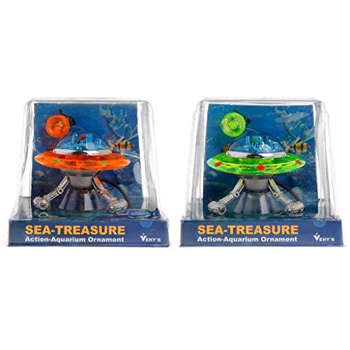 ZJL220 Dekor UFO Aquarium Action-Air Effekt Dekoration Unterwasser Aquarium Ornament
