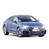 車のモデル 1/32に適用するアウディA7アロイダイキャストセダンモデルホイールステアリングショックアブソーバーコレクションスポーツカー玩具 (Color : 1)