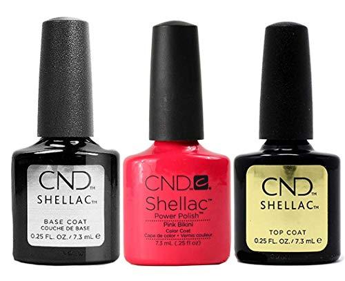 CND Original CND Shellac Pink Bikini plus Base Coat plus Top Coat 7.3 ml, 1er Pack (1 x 22 ml)