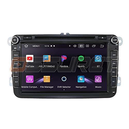 Android 10 Navigazione GPS per auto Bluetooth 2 Din Stereo per veicoli con touch screen da 8 pollici per Volkswagen Skoda Supporto sedile Specchio Link WiFi/4G SWC DVR OBD2 TPMS DAB+