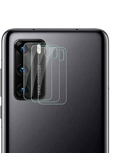Aerku Cámara Trasera Lente Protector de Pantalla para Huawei P40 [3 Piezas], [Cobertura Completa Vidrio Flexible] HD Sin Burbujas Cristal Templado Cámara Protector para Huawei P40 [Transparente]