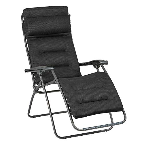 Lafuma Relax-Liegestuhl, Klappbar und verstellbar, RSX Clip, Air Comfort, Acier (Anthrazit), LFM2038-8718