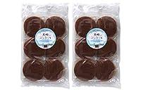 黒糖入りパンケーキ (2枚重ね×6個入り)×2袋 ★国産小麦の小麦粉、青森県産の鶏卵、喜界島粗糖、国産蜂蜜、沖縄県産黒糖を使用した、黒糖風味のシンプルなパンケーキです。