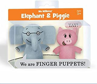 YOTTOY Elephant and Piggie Finger Puppets