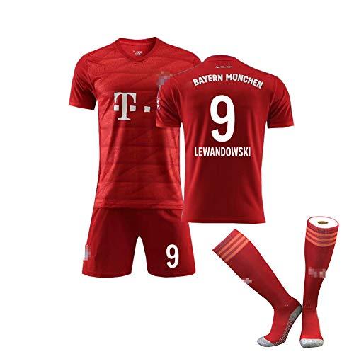 EWDS Camiseta de fútbol para Adultos para niños, Lewandowski No. 9 James11 No. Müller No. 25 Uniforme de fútbol Local, Traje de fútbol para Estudiantes, edición limitada-red9-26