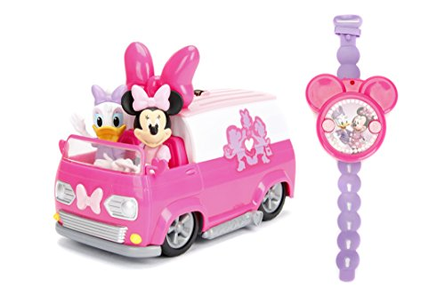 Jada Toys Disney Junior Minnie Mouse Happy Helper's Van RC/Radio Control Toy Vehicle, Pink/White