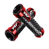 Motorcycle Non Slip Handlebar Grips 7/8' 22mm Rubber Handle Grips For Yamaha YZF 600R R1 98-19 R3 15-19 R6 99-19 R125 08-19 R6S 06-09 R25 14-19(Red)