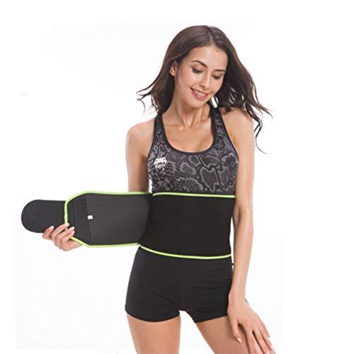FeiLuo Faja Reductora Adelgazante, Cinturón de Fitness Ajustable para Mujer & Hombre para Body Shaped, Quema de Grasas, Efecto Sauna, Soporte para la Músculos Abdominal y Espalda Baja (Verde, S)