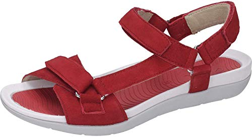 ARA Damen Nepal 1235919 T-Spangen Sandalen, Rot (Rot 06), 38 EU