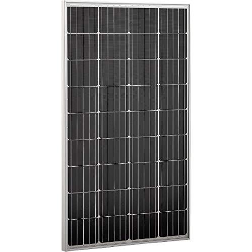 ECTIVE 12V 120W Solarmodul Monokristallin hagelfest Solarpanel für Wohnwagen Camping und Garten in 6 Varianten 50-160 Watt
