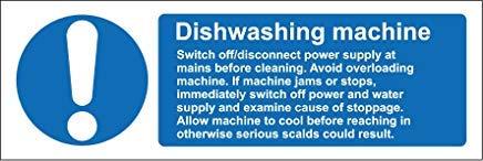 Hygiëne Catering Vaatwasser Machine Veiligheid Teken Stickers, Waarschuwing Stickers Labels, Zelfklevende Vinyl,Veiligheid Let Let op Teken Stickers, 30x10CM