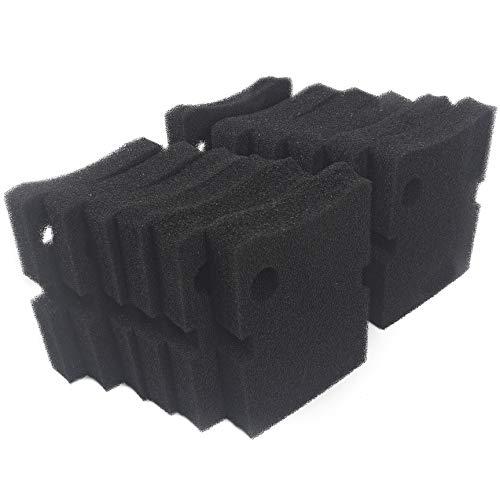LTWHOME Compatible en Mousse Filtre Média Convient pour Hydor Professionnel boîte Filtre 250/350 (Paquet de 12)