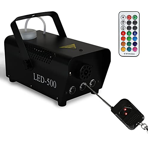 Nebelmaschine 13 farbige 3 LEDs 500W Rauchmaschine DJ Effekt für Halloween, Party, Weihnachtsgeschenke, Hochzeit, Theater