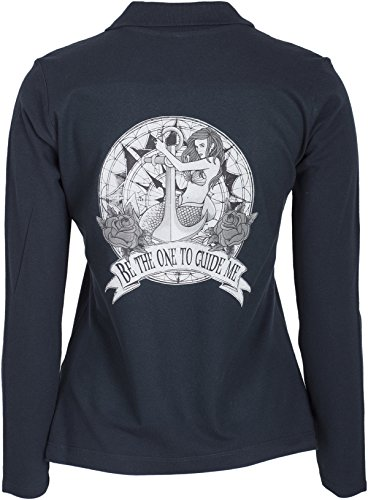 Küstenluder BE THE ONE TO GUIDE ME Mermaid Anker Sailor Langarm POLO-SHIRT Rock - 3