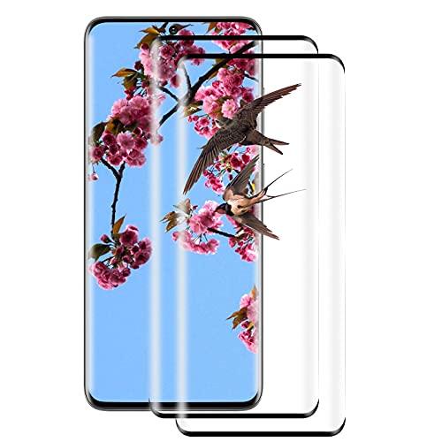[2 Pezzi] Pellicola Protettiva in Vetro Temperato per Samsung Galaxy S20 Plus, Pellicola Protettiva Completa 3D, Antigraffio, Durezza 9H, Anti-Impronte, Compatibile con Samsung Galaxy S20 Plus (Nero)