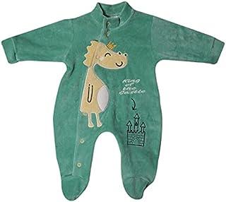 Papillon BodySuit velvet embroidered Dinasour for boys -0/3m-Green