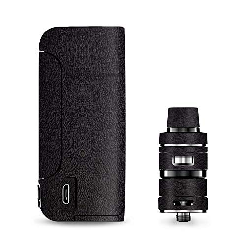 IT'S A SKIN Decal Vinyl Wrap for Vaporesso Armour Pro Cascade Tank Vape Sticker Sleeve Cover/Black Leather Pattern Look