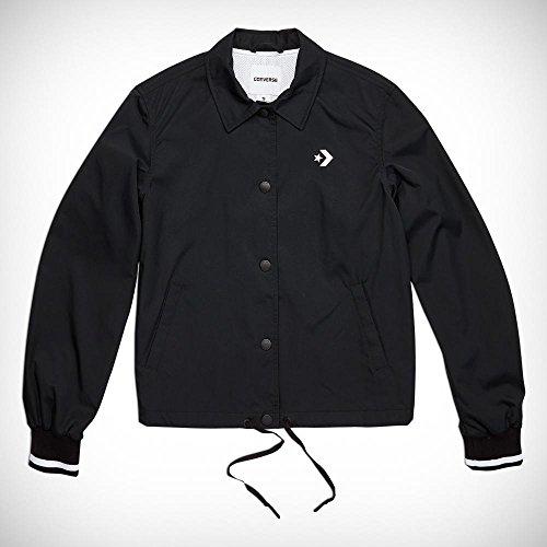 Converse Damen Street Sport Coaches Jacke, schwarz/weiß, L