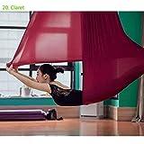 KARARI Juego de hamacas de Yoga de 5 Metros Equipo de Yoga aéreo con inversión antigravedad Swing, Claret