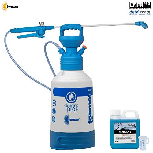 detailmate Juego de prelavado ValetPRO Foamula 1 (1 L) – Snow Foam Orion Super Foamer Pro + Viton – Pulverizador a presión 6 L + vaso medidor de 50 ml