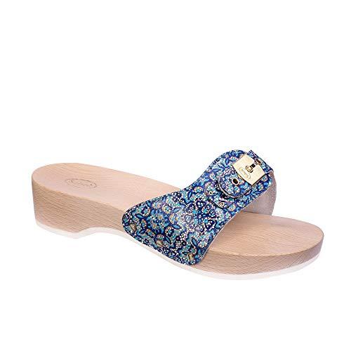 Scholl Zuecos pescura Heel Azul 38