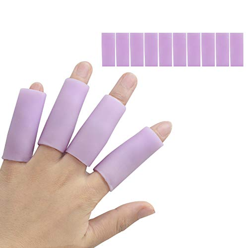 10 Pcs Gel Finger Cots, Finger Protector Support New Material Finger Sleeves Great for Trigger Finger, Hand Eczema…