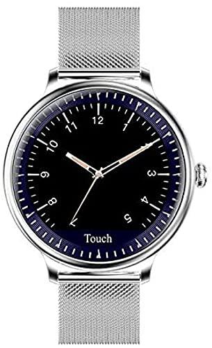 Reloj inteligente Fitness Relojes Moda Señora Ronda Pantalla Smartwatch adecuado para niña monitor de ritmo cardíaco adecuado para Android y lOS-D