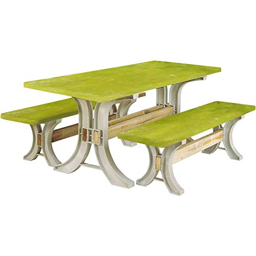 Lime Green Picnic Table and Bench Fitted Tablecloth Cover,Grunge Hazy Color Background with Scattered Blurry Shade Effects Mystic Print 72' Elastic Edge Fitted Tablecloth Set for Folding Table,Green