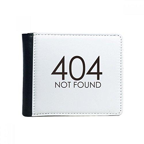 Programmeur 404 Fout niet gevonden Flip Bifold Faux lederen portemonnee multifunctionele kaart portemonnee cadeau