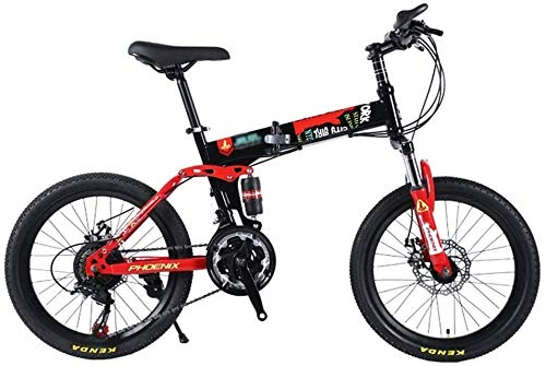 Best Bargain MGE Children Bicycle,Bikes Student Bicycle Outdoor Bicycle for Children 20-Inch Mountain Bike for Children Travel Folding Bicycle for Children Speed